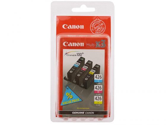 Набор картриджей Canon CLI-426CMY комплект из 3х цветов для iP4840 MG5140 MG5240 MG6140 MG8140 картридж colouring cg cli 426bk black для canon ip4840 mg5140 mg5240 mg6140 mg8140