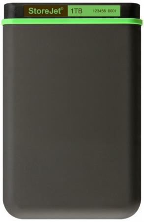 Внешний жесткий диск 2.5 USB3.0 1 Tb Transcend StoreJet 25М TS1TSJ25M3 серый