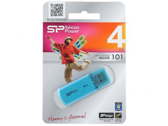 Флешка USB 4Gb Silicon Power Helios 101 SP004GBUF2101V1B синий usb накопитель 4gb silicon power helios 101 usb 2 0 синий sp004gbuf2101v1b