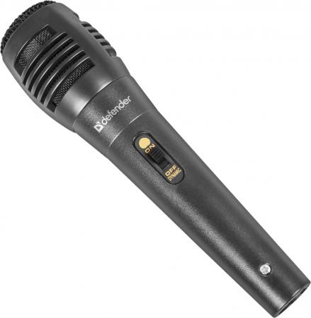 Микрофон Defender MIC-129 черный кабель 5м 73дБ 64129 микрофон defender mic 109 черный кабель 1 8м 64109