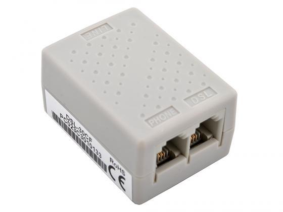 Сплиттер D-Link DSL-30CF Сплиттер ADSL c телефонным кабелем 12 см маршрутизатор беспроводной d link dsl 2750u nru c