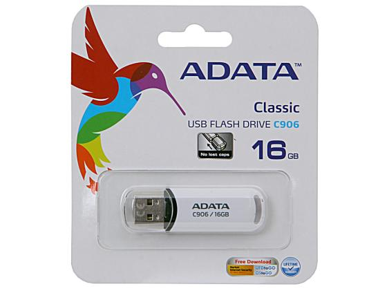 Флешка USB 16Gb A-Data C906 AC906-16G-RWH белый