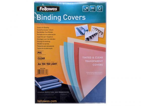 Обложка Fellowes Transparent A4 150 мкм прозрачный 100 шт FS-53760 влажные салфетки fellowes fs 99703 100 шт