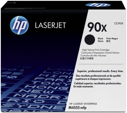 Картридж HP CE390X №90X для LJ M4555MFP M602 M603 24000стр картридж mytoner mt ce390x black для hp lj m4555