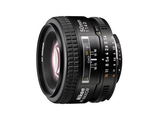 Объектив Nikon 50mm f/1.4D AF Nikkor зеркальный фотоаппарат nikon d7500 af s dx nikkor 18 105vr черный