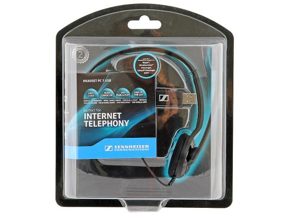 Гарнитура Sennheiser PC 7 USB черный sennheiser pc36 call control usb