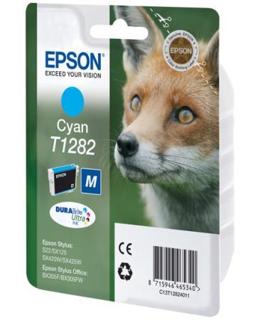 Картридж Epson C13T12824011/C13T12824021 для S22 SX125 Cyan Голубой картридж colouring cg 1282 cyan для epson s22 sx125 sx130 sx420w sx425w office bx305f bx305fw