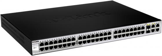Коммутатор D-LINK DES-1210-52 управляемый 48 портов 10/100Mbps 2x combo GbLAN/SFP коммутатор cisco sg200 50 48 портов 10 100 1000mbps 2x combo gblan sfp slm2048t eu