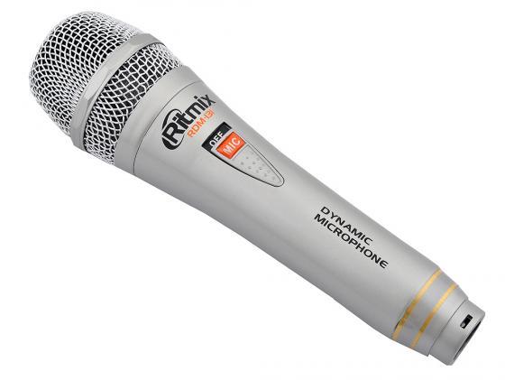 Микрофон Ritmix RDM-131 3м серебристый цена 2016