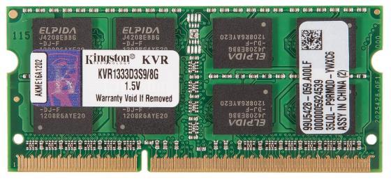 все цены на Оперативная память для ноутбуков SO-DDR3 8Gb PC10600 1333MHz Kingston KVR1333D3S9/8G онлайн