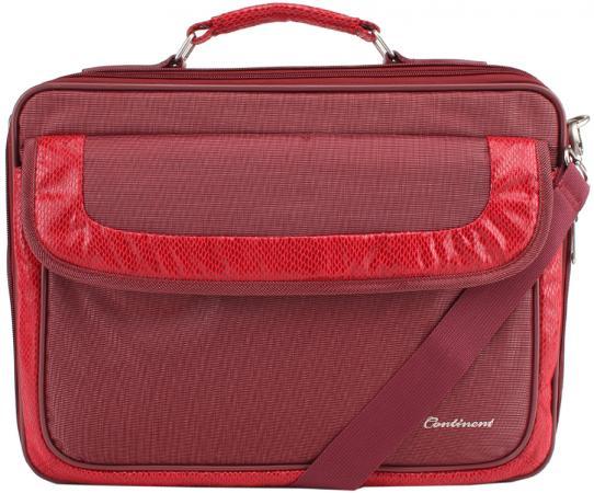 Сумка для ноутбука 15 Continent CC-05 красный нейлон