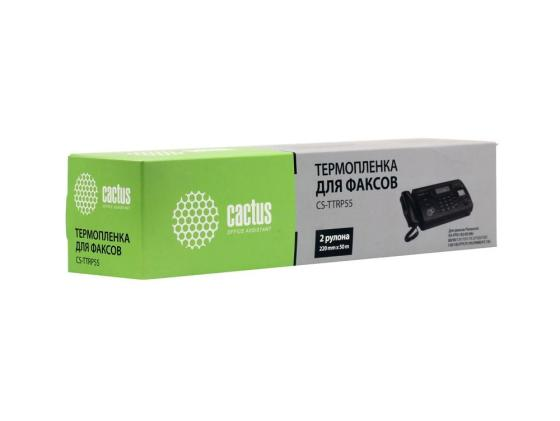 Термопленка CACTUS CS-TTRP55 для факсов Panasonic KXF-A55 KX-FP81 82 85 86 88 90 131 151 15 2 153 155 158 185 FPC91 95 FM90 FC195