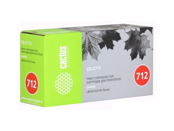 Картридж Cactus CS-C712S для CANON LBP-3010 3100 черный 1500 стр. картридж t2 tc c712 для hp laserjet p1005 p1006 canon i sensys lbp 3010 3100 1500стр
