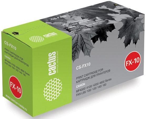 Картридж Cactus CS-FX10S для Canon MF4000 4100 4200 4600 FAX-L95 100 120 140 160 2000стр lcl fx9 fx 9 3 pack black toner cartridge compatible for canon fax l 100 l 120 faxphone 120 mf4150 fax l905a i sensys 4120