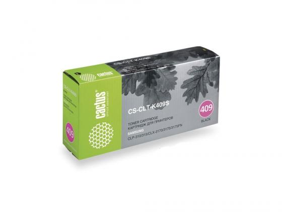 Картридж CACTUS CS-CLT-K409S для принтеров Samsung CLP-310 315 CLX-3170 3175 3175FN черный 1500 стр. картридж cactus cs clt m409s magenta для samsung clp 310 315 clx 3170 3175 3175fn
