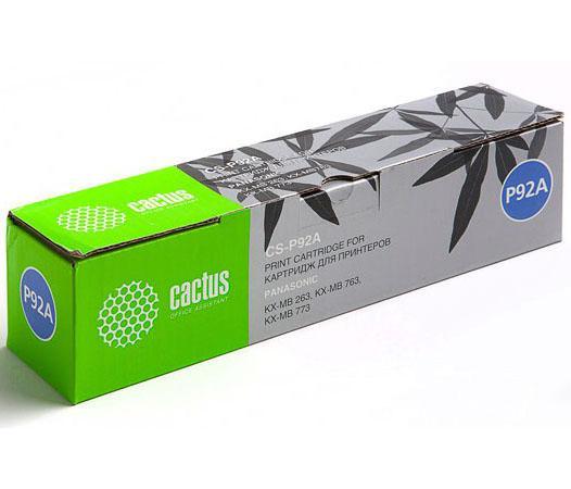 Картридж CACTUS CS-P92A для принтера Panasonic KX-MB263/KX-MB763/KX-MB773, черный,2000 стр картридж для принтера cactus cs ept7012 cyan