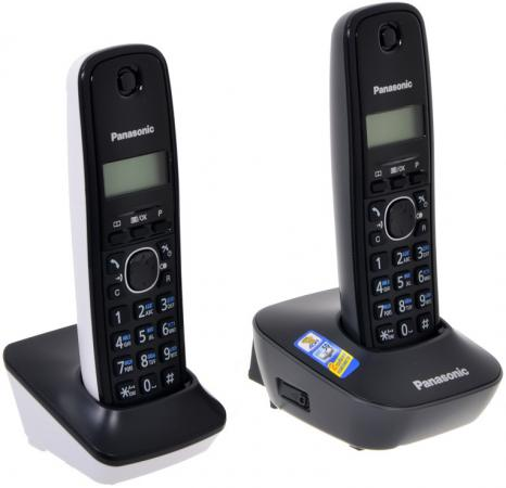 Радиотелефон DECT Panasonic KX-TG1612RU1 черный радиотелефон panasonic kx tg8552 черный kx tg8552rub