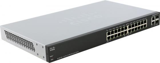 Коммутатор Cisco SLM2024PT-EU управляемый 26 портов 10/100/1000Mbps 2xCombo SFP PoE коммутатор cisco sg300 10sfp k9 eu управляемый 10 портов 10 100 1000mbps 8 sfp 2 comb