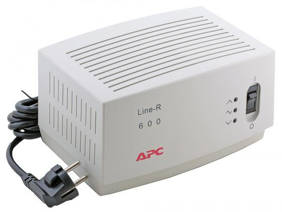 Стабилизатор напряжения APC Line-R LE600-RS 3 розетки 2 м белый