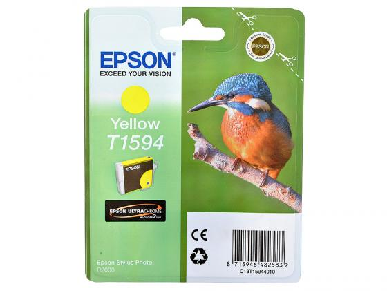 Картридж Epson C13T15944010 T1594 для Epson Stylus Photo R2000 желтый картридж epson t009402 для epson st photo 900 1270 1290 color 2 pack