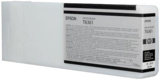 Картридж Epson C13T636100 для Epson Stylus Pro 7900/9900 Photo черный 700мл картридж epson c13t636800 для epson stylus pro 7900 9900 матовый черный