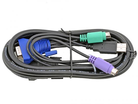 Набор кабелей D-LINK KVM-401 кабель d link kvm 401 kvm 4 in 1 1 8m