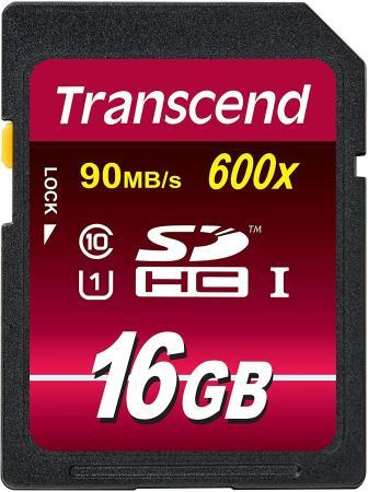 Карта памяти SDHC 16GB Class 10 Transcend TS16GSDHC10U1 600x