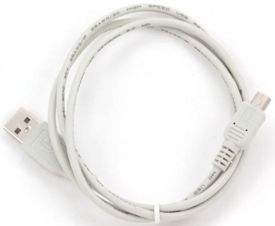 Кабель miniUSB 0.9м Gembird круглый CC-USB2-AM5P-3 аксессуар gembird usb 2 0 am mini 5p 0 9m cc usb2 am5p 3
