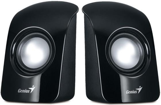Колонки Genius SP-U115 2x0.75 Вт USB черный колонки genius колонки sw 2 1 375