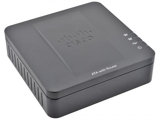Телефонный адаптер Cisco SPA122-XU для VoIP два порта FXS с функцией роутера и голосового шлюза цена 2017