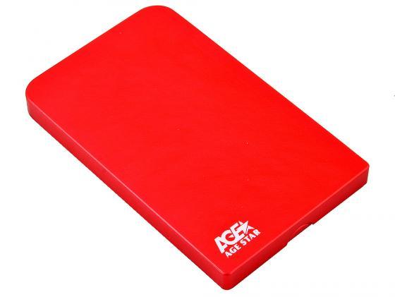Внешний контейнер для HDD 2.5 SATA AgeStar 3UB2O1 USB3.0 красный 1pcs serial ata sata 4 pin ide to 2 of 15 hdd power adapter cable hot worldwide