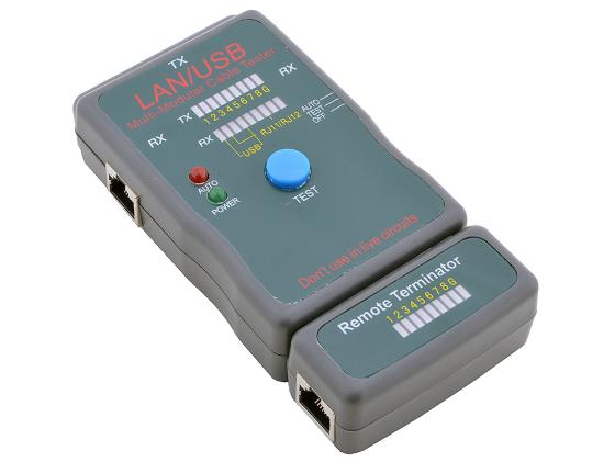 Тестер кабеля 5bites LY-CT011 и его длины для UTP/STP RJ45 RJ11/12 USB чехол