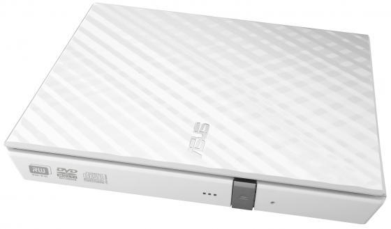 Внешний привод DVD±RW ASUS SDRW-08D2S-U Lite Slim USB2.0 Retail белый оптический привод для ноутбука asus sdrw 08d2s u lite usb 2 0 черный