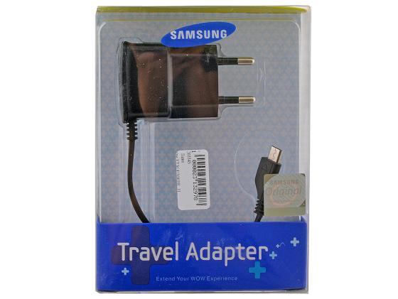 Сетевое зарядное устройство Samsung Travel Adapter ETA-0U10EBECSTD 0.7 А microUSB черный внешний аккумулятор samsung eb pg930bbrgru 5100mah черный