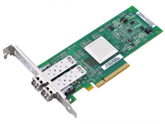 Контроллер PCI-E 8x Qlogic QLE2562-CK Fibre Channel Retail адаптер dell qlogic 2562 dual port 8gb fibre channel hba pci e x8 full profile kit 406 bbek