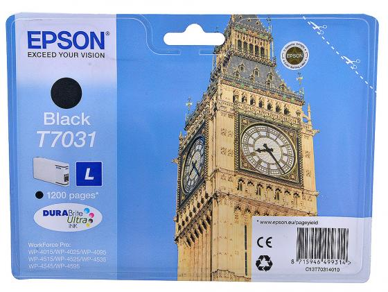 Картридж Epson C13T70314010 для Epson WP4000/4500 черный картридж epson t009402 для epson st photo 900 1270 1290 color 2 pack