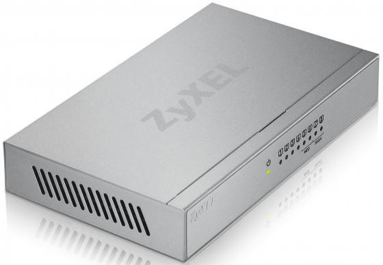 Коммутатор Zyxel GS-108B неуправляемый 8 портов 10/100/1000Mbps коммутатор zyxel gs1100 16 gs1100 16 eu0101f