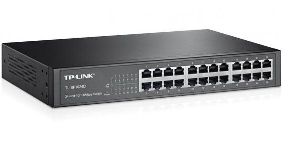 Коммутатор TP-LINK TL-SF1024D 24-ports 10/100Mbps коммутатор tp link tl sf1005d 5 port 10 100m mini desktop switch 5 10 100m rj45 ports plastic case