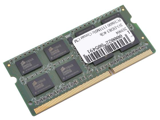 Оперативная память для ноутбуков SO-DDR3 4Gb PC10600 1333MHz Corsair CMSO4GX3M1A1333C9 jzl memoria pc3 10600 ddr3 1333mhz pc3 10600 ddr 3 1333 mhz 8gb lc9 240 pin desktop pc computer dimm memory ram for amd cpu