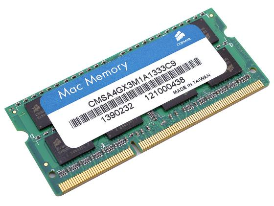 Оперативная память для ноутбуков SO-DDR3 4Gb PC10600 1333MHz Corsair CMSA4GX3M1A1333C9 jzl memoria pc3 10600 ddr3 1333mhz pc3 10600 ddr 3 1333 mhz 8gb lc9 240 pin desktop pc computer dimm memory ram for amd cpu