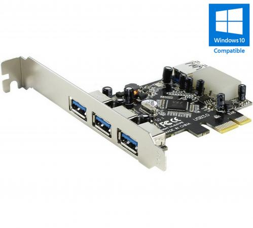 Контроллер PCI-E Orient VA-3U31PE USB3.0 3ext 1int Retail