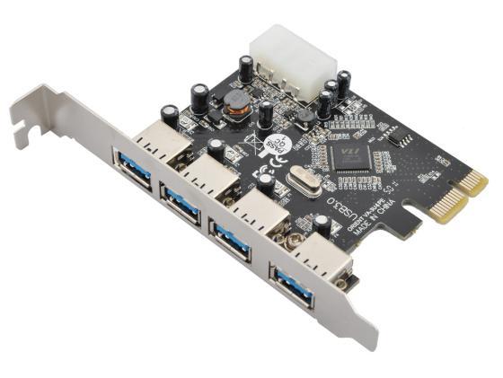 цена на Контроллер PCI-E Orient VA-3U4PE USB3.0 4ext Retail