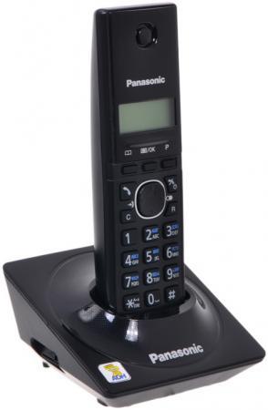 Радиотелефон DECT Panasonic KX-TG1711RUB черный радиотелефон dect panasonic kx tca185ru черный