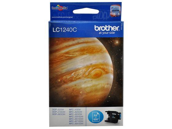 Картридж Brother LC1240C для MFCJ6510DW MFCJ69010DW голубой 600стр brother lc1240c