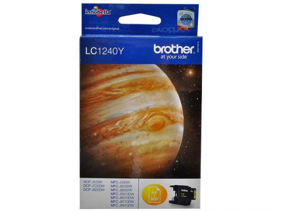 Картридж Brother LC1240Y для MFCJ6510DW MFCJ69010DW желтый 600стр brother lc1240y yellow