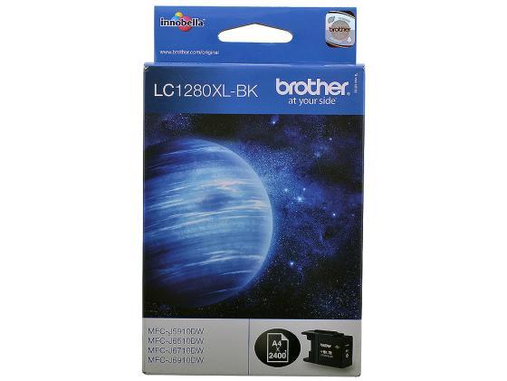 Картридж Brother LC1280XLBK для MFCJ6510DW MFCJ69010DW черный 2400стр brother lc 980 magenta