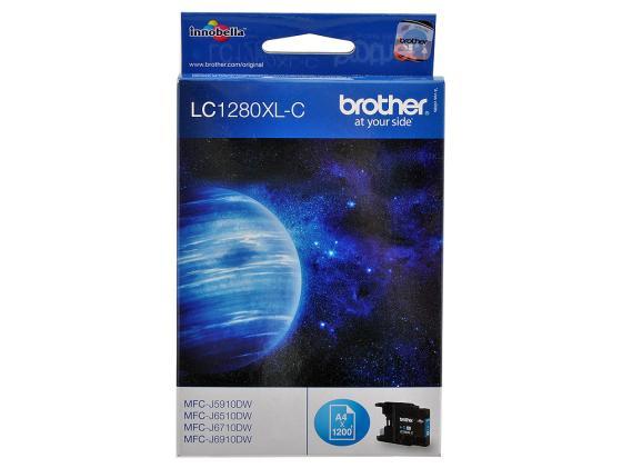 Картридж Brother LC1280XLC для MFC-J6510 6910DW Голубой увеличенной емкости brother hq 12