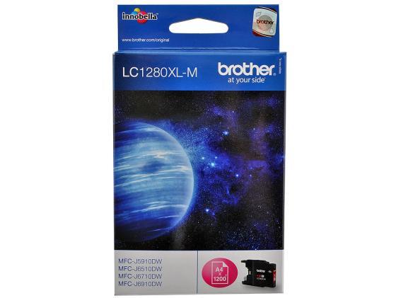 Картридж Brother LC1280XLM для MFC-J6510 6910DW Пурпурный увеличенной емкости brother lc 980 magenta
