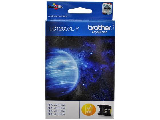 Картридж Brother LC1280XLY для MFC-J6510 6910DW Желтый увеличенной емкости картридж brother lc1280xly желтый