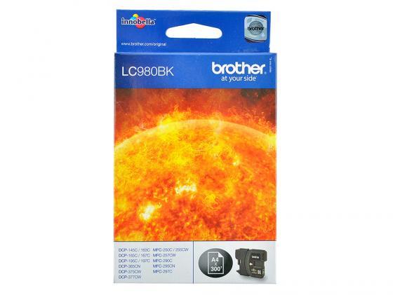 Картридж Brother LC980BK для DCP-145 165 195 365 375 MFC-250 255 290 черный brother lc980bk